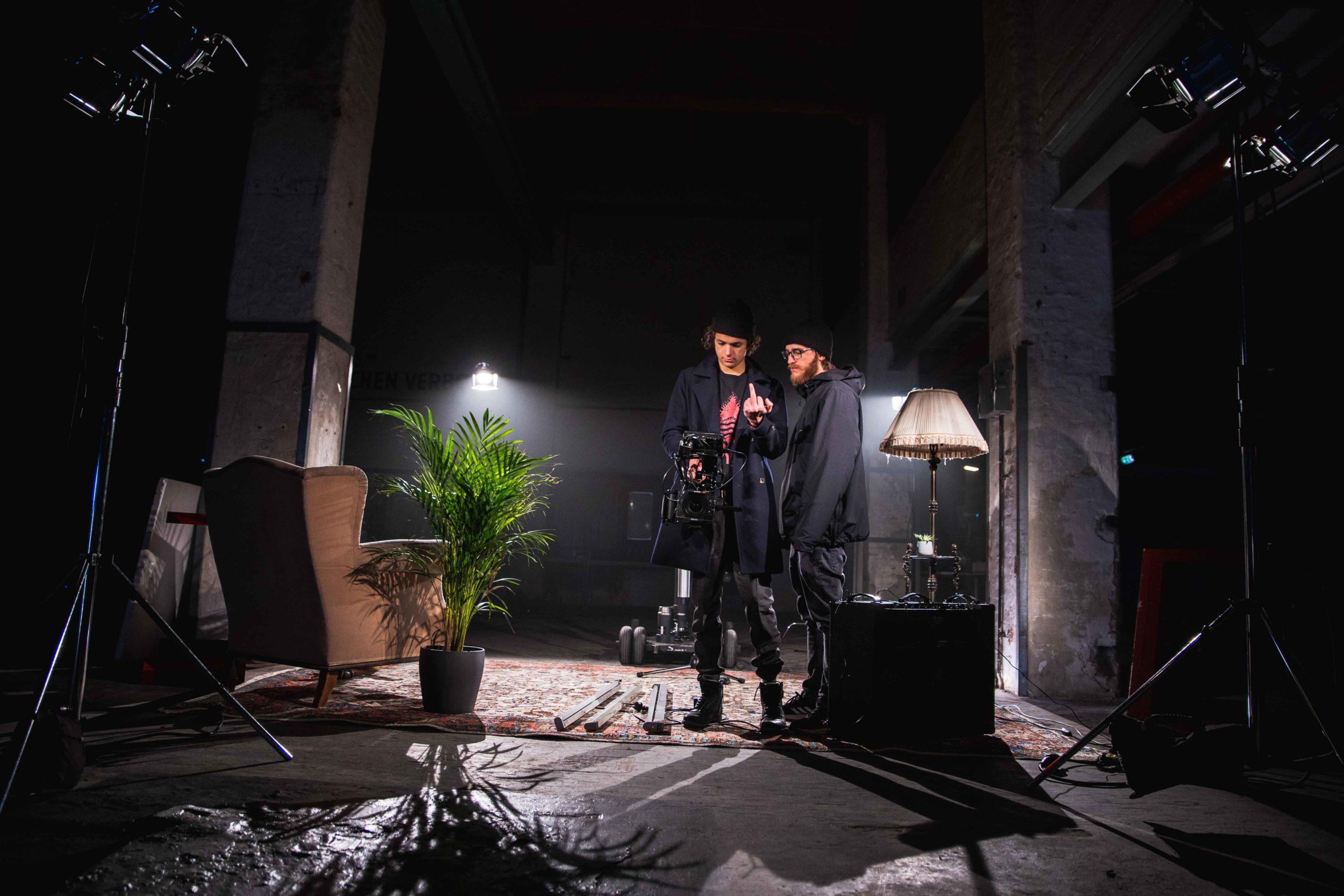 Making of Bilder von dem Musikvideo dreh Freude in Wien. Gemacht von Pia Berchtold.
