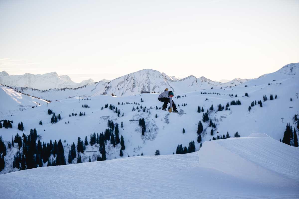 Parkepisode in Damüls Snowpark. Bilder von Pia Berchtold.