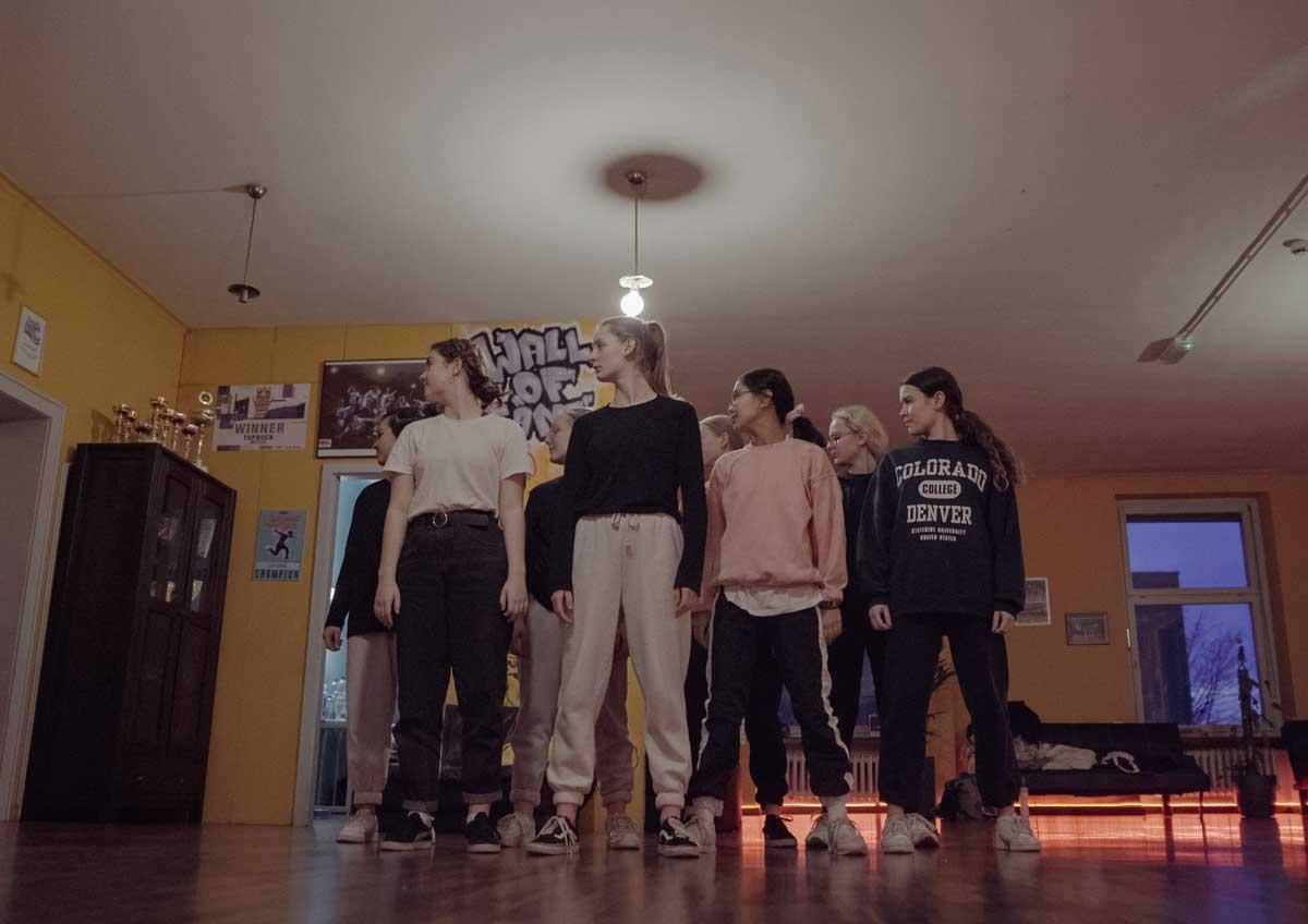 Screenshot vom Tanzvideo gemacht von Pia Berchtold.