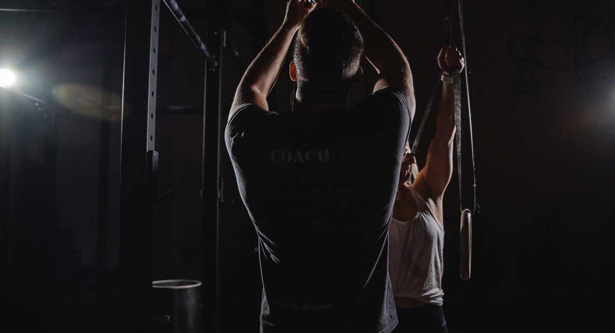 Making-of Bild vom Fitnesstrainer- Videodreh. Gemacht von Pia Berchtold.